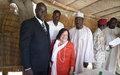 La Représentante adjointe de la MINURCAT, Mme Salah rencontre les dirigeants locaux à Abéché