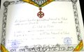 General Chaumont Made Chevalier of Chadian National Order