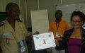 Clôture d'un atelier de formation des pairs éducateurs pour le VIH/SIDA pour la section UNPOL